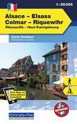 KuF Elsass / Vogesen Outdoorkarte 01 Elsass - Colmar - Riquewihr 1 : 35 000