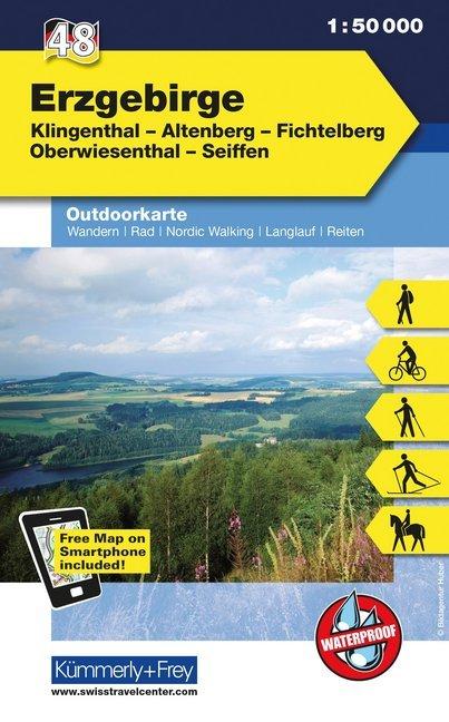 KuF Deutschland Outdoorkarte 48 Erzgebirge 1 : ...