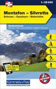 KuF Österreich Outdoorkarte 02 Montafon - Silvretta 1 : 35 000