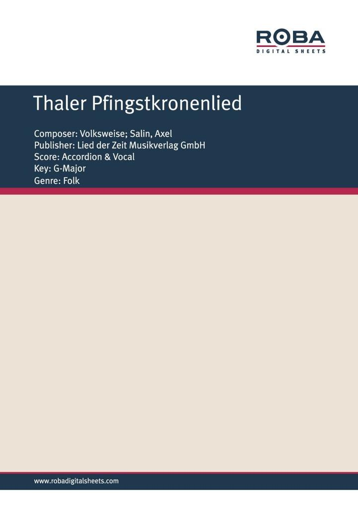 Thaler Pfingstkronenlied als eBook pdf