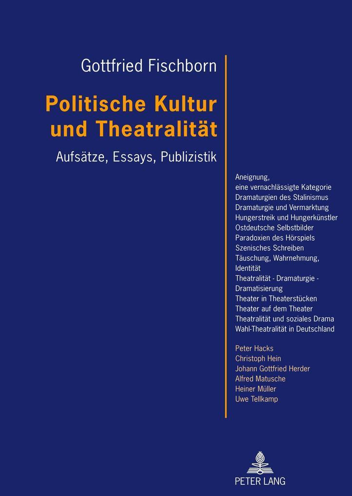 Politische Kultur und Theatralität als Buch
