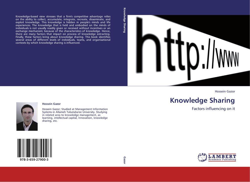 Knowledge Sharing als Buch von Hossein Gazor