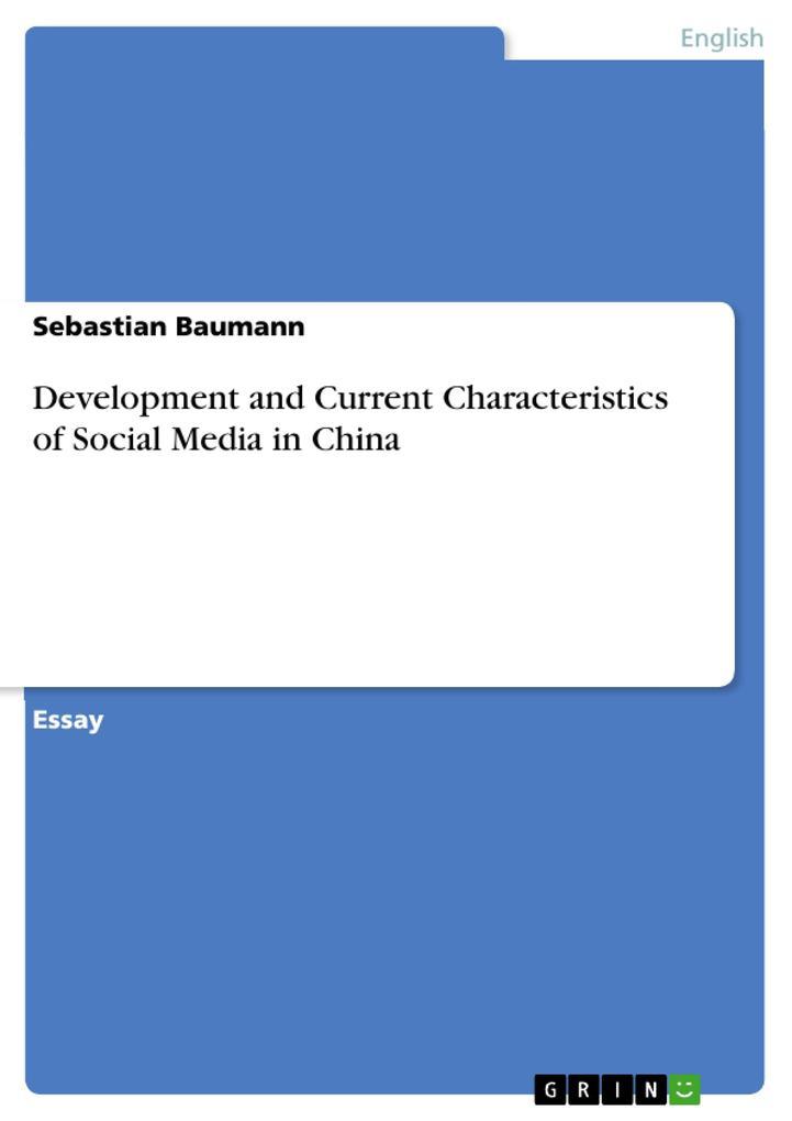 Development and Current Characteristics of Soci...