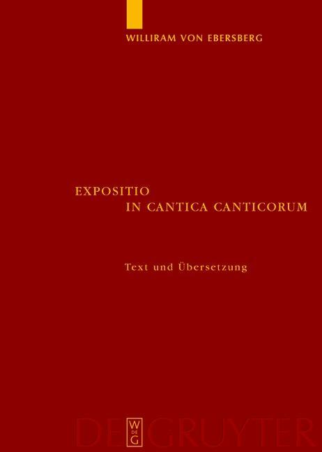 Expositio in Cantica Canticorum als eBook Downl...