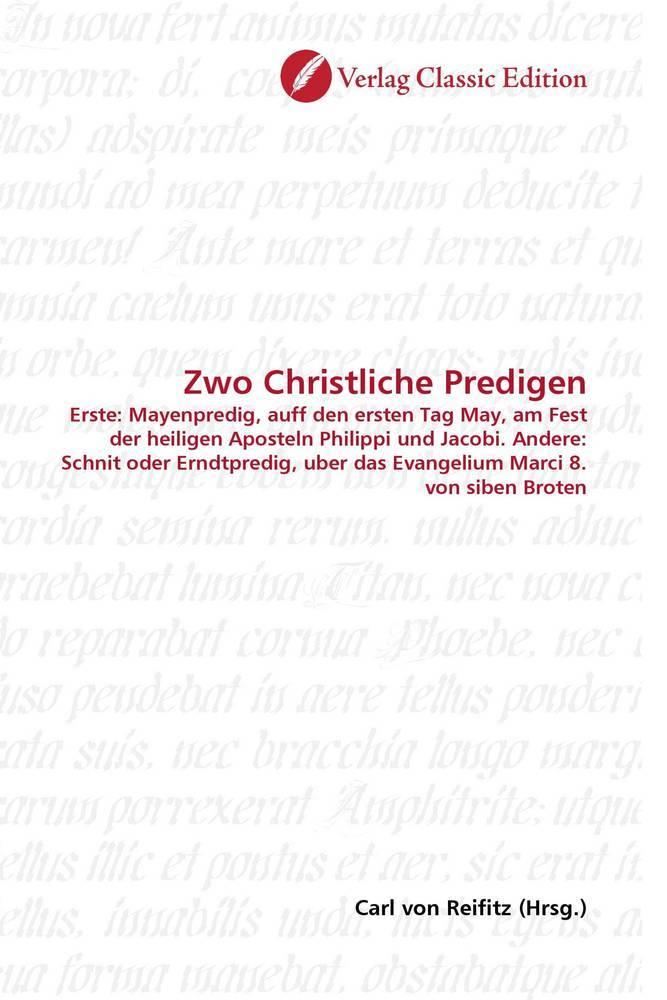 Zwo Christliche Predigen als Buch von