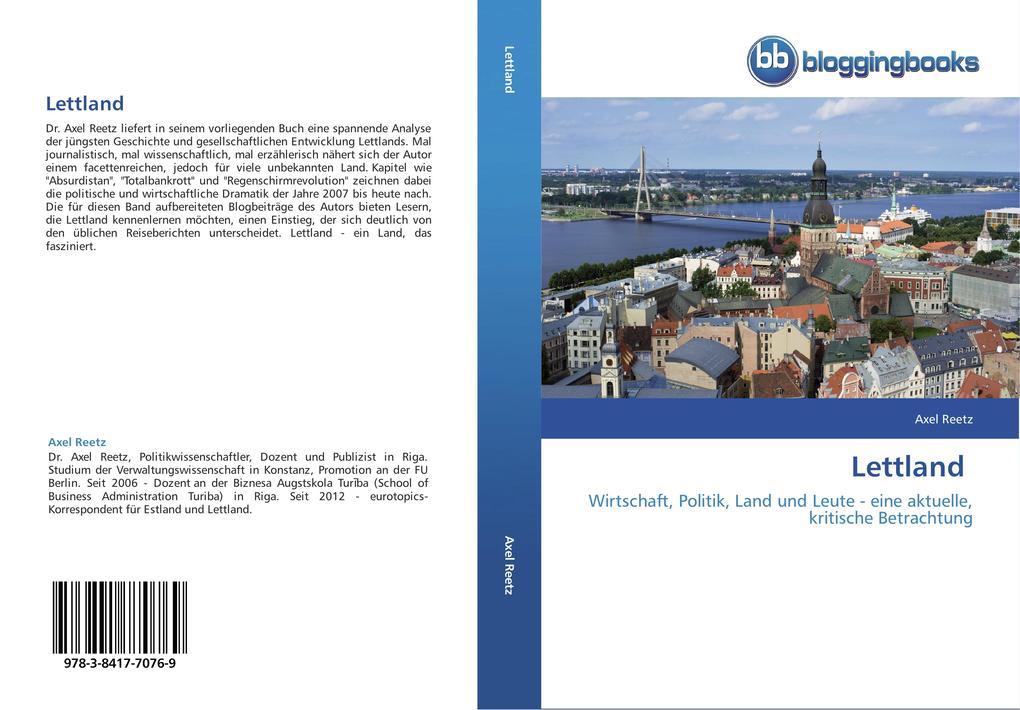 Lettland als Buch von Axel Reetz