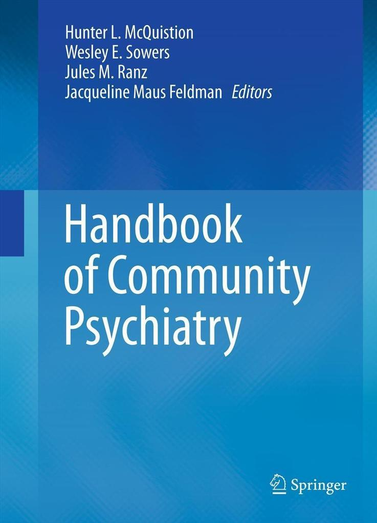Handbook of Community Psychiatry als eBook Down...