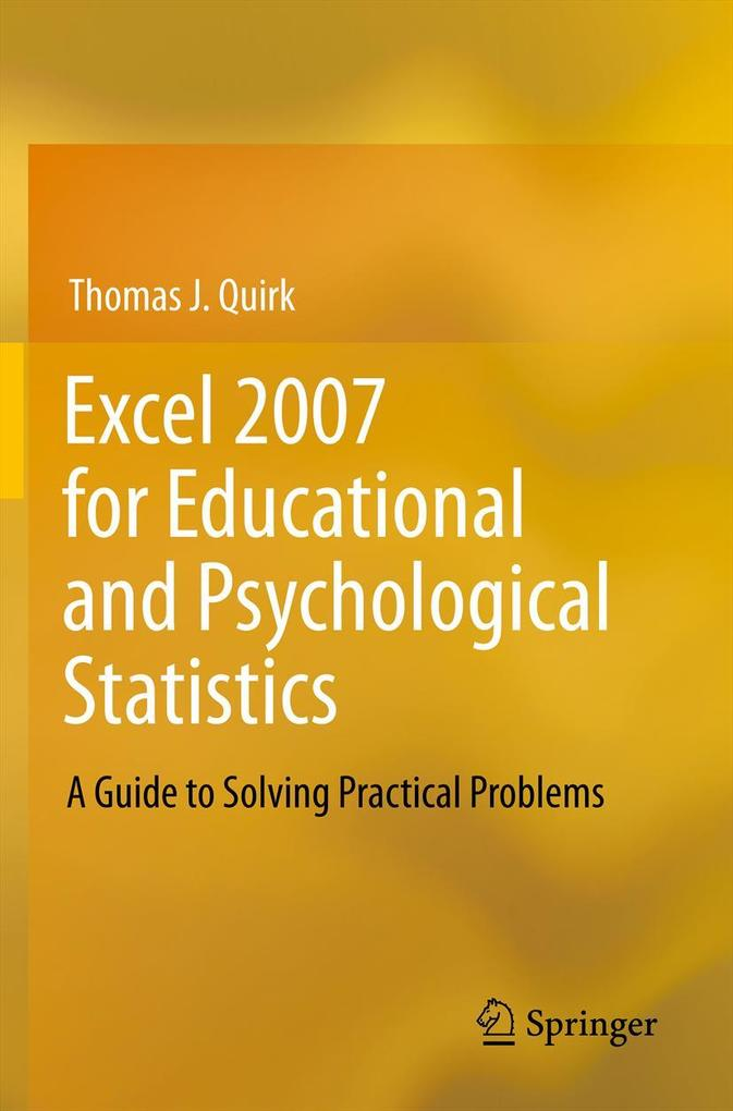 Excel 2007 for Educational and Psychological St...