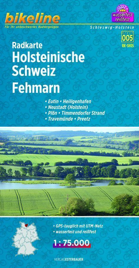 Bikeline Radkarte Holsteinische Schweiz, Fehmar...