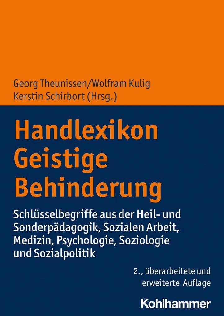 Handlexikon Geistige Behinderung als Buch von