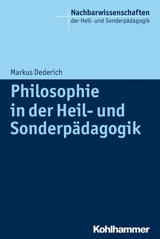 Philosophie in der Heil- und Sonderpädagogik al...