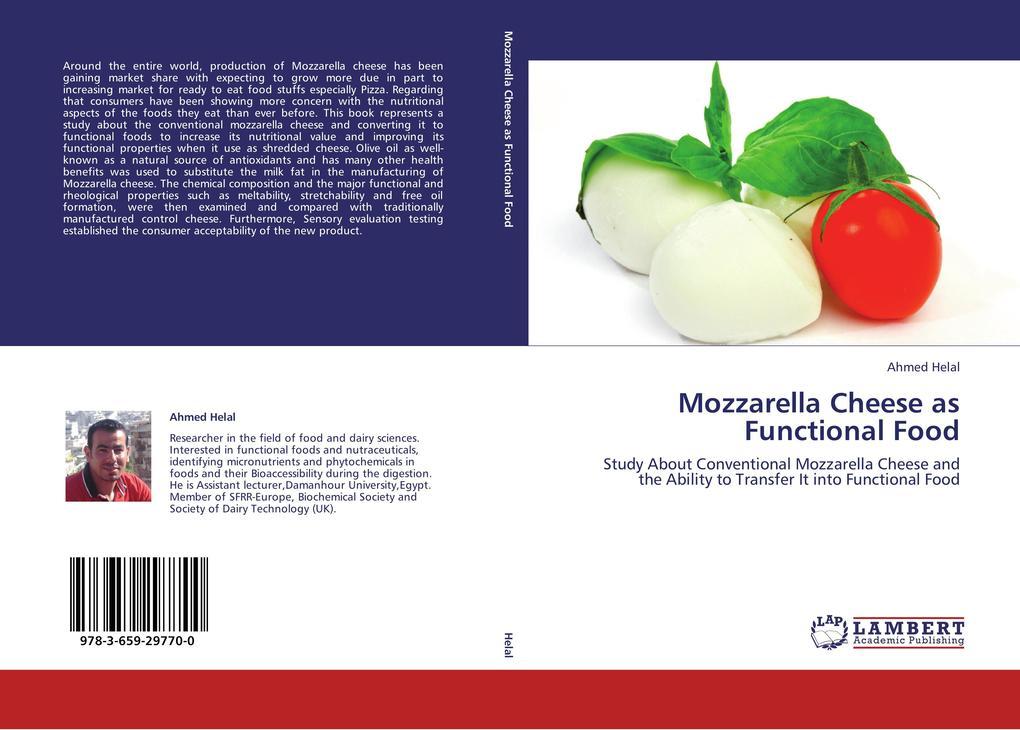 Mozzarella Cheese as Functional Food als Buch v...