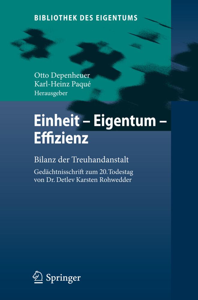 Einheit - Eigentum - Effizienz als Buch von
