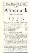 Poor Richard, 1733 an Almanack: For the Year of Christ 1733