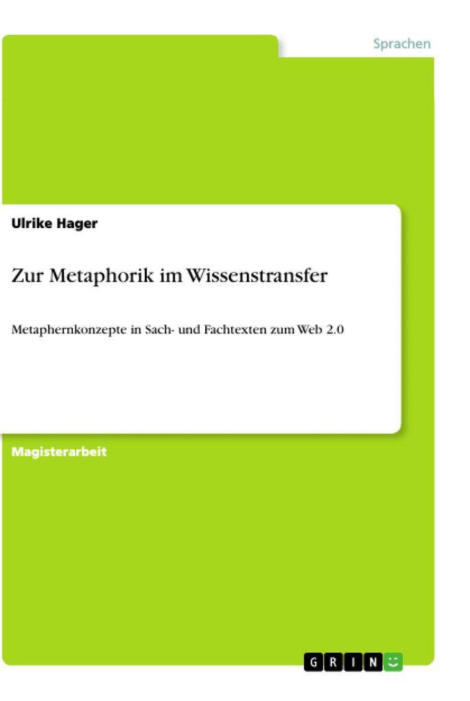 Zur Metaphorik im Wissenstransfer als Buch von ...