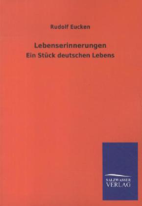 Lebenserinnerungen als Buch von Rudolf Eucken