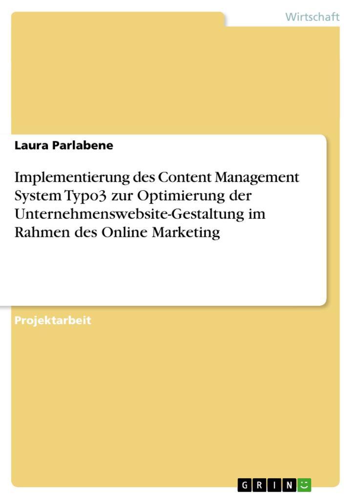 Implementierung des Content Management System T...