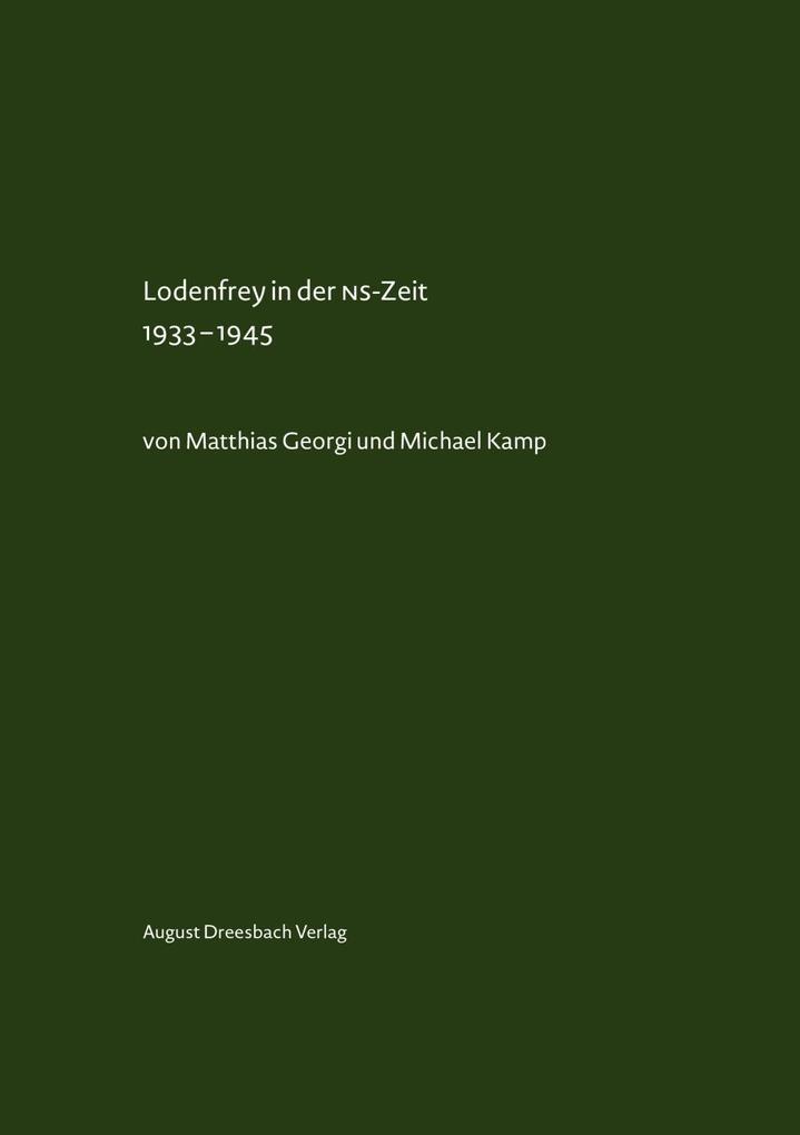 Lodenfrey in der NS-Zeit 1933-1945 als Buch von...