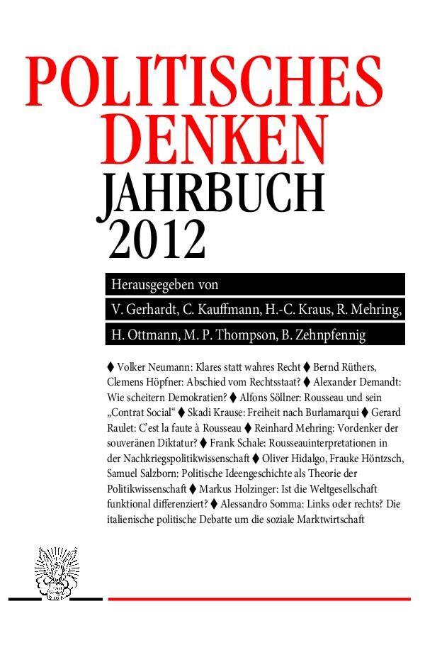 JPD - Politisches Denken. Jahrbuch 2012 als Buc...