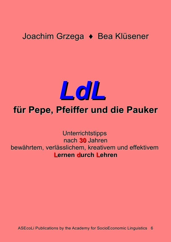 LdL für Pepe, Pfeiffer und die Pauker als Buch