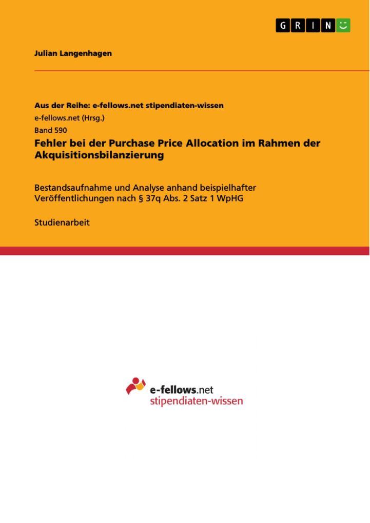Fehler bei der Purchase Price Allocation im Rah...