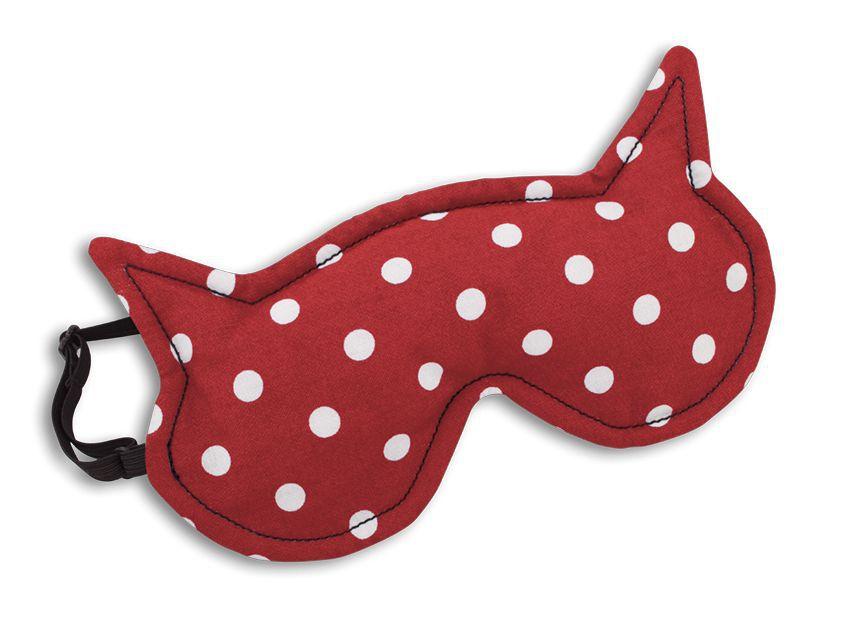 Schlafmaske, Die Katze Luna, Farbe: Polka dot r...