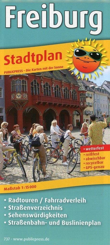 Freiburg Stadtplan 1 : 15 000 als Buch von
