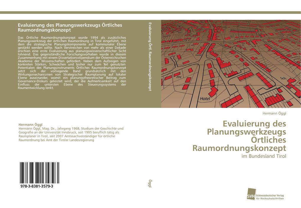Evaluierung des Planungswerkzeugs Örtliches Rau...