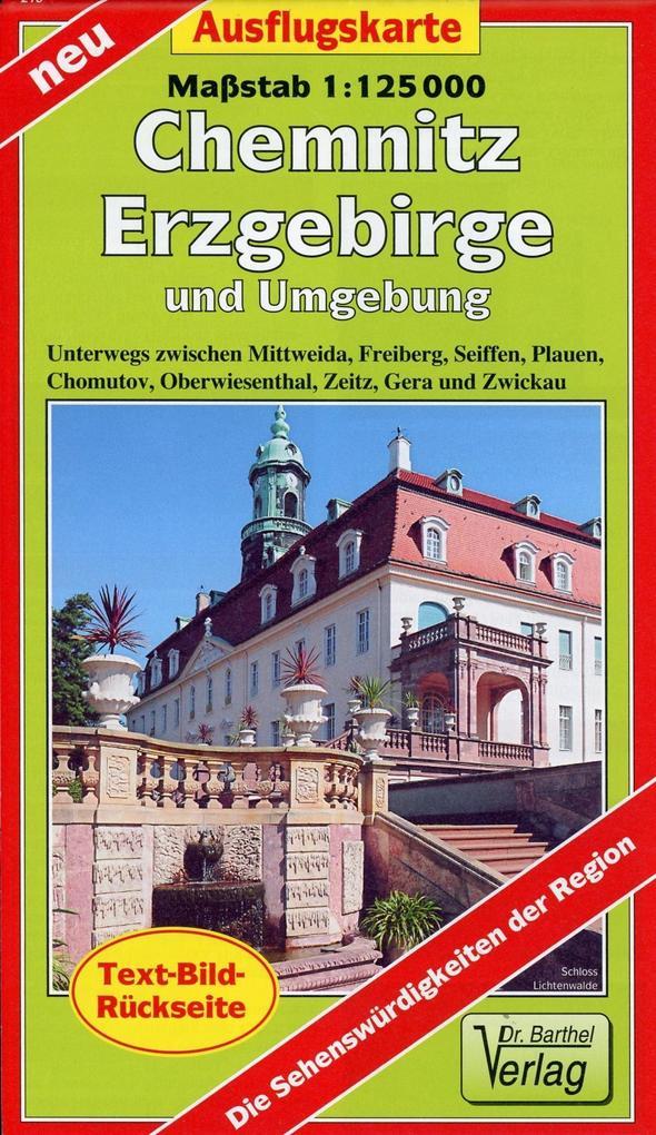 Ausflugskarte Erzgebirge, Chemnitz und Umgebung...