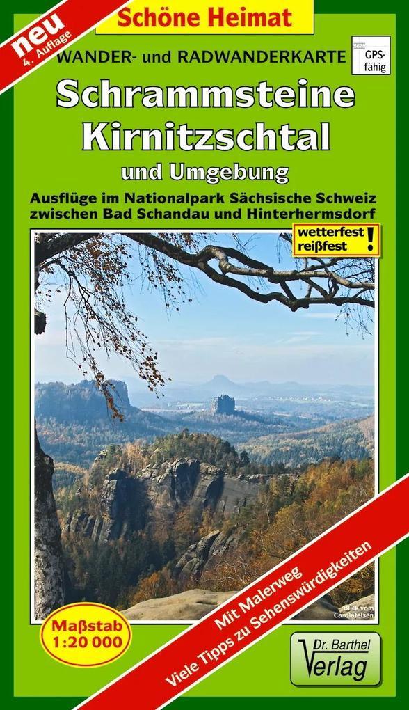 Wander- und Radwanderkarte Schrammsteine, Kirni...