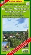Radwander- und Wanderkarte Naturpark Märkische Schweiz, Buckow, Waldsieversdorf und Umgebung 1 : 50 000