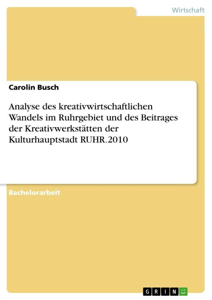 Analyse des kreativwirtschaftlichen Wandels im ...