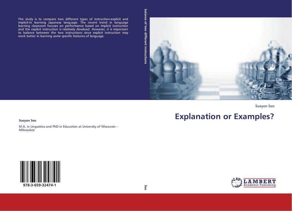 Explanation or Examples? als Buch von Sueyon Seo