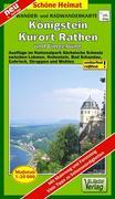 Radwander- und Wanderkarte Königstein, Kurort Rathen und Umgebung 1 : 20 000