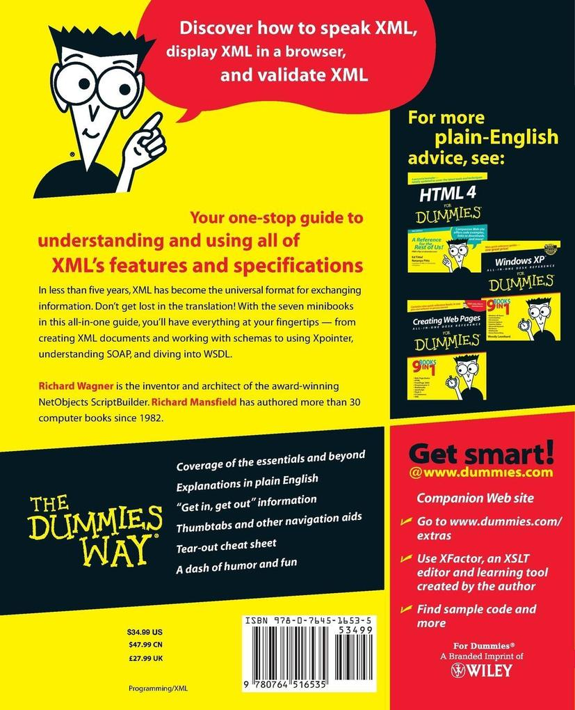 XML All in One Desk Reference for Dummies als B...