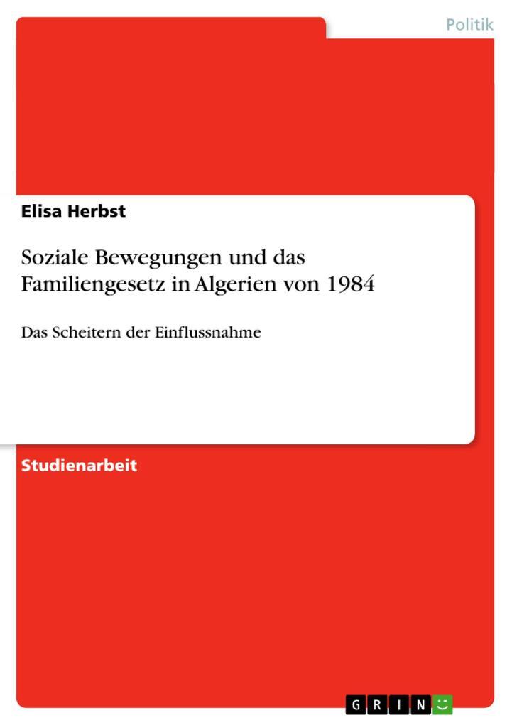 Soziale Bewegungen und das Familiengesetz in Al...