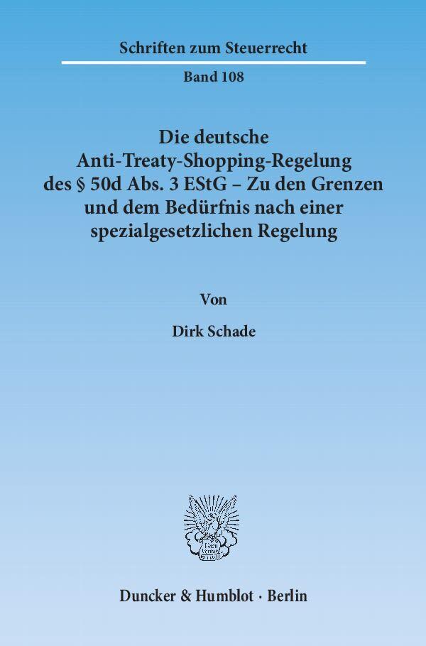 Die deutsche Anti-Treaty-Shopping-Regelung des ...
