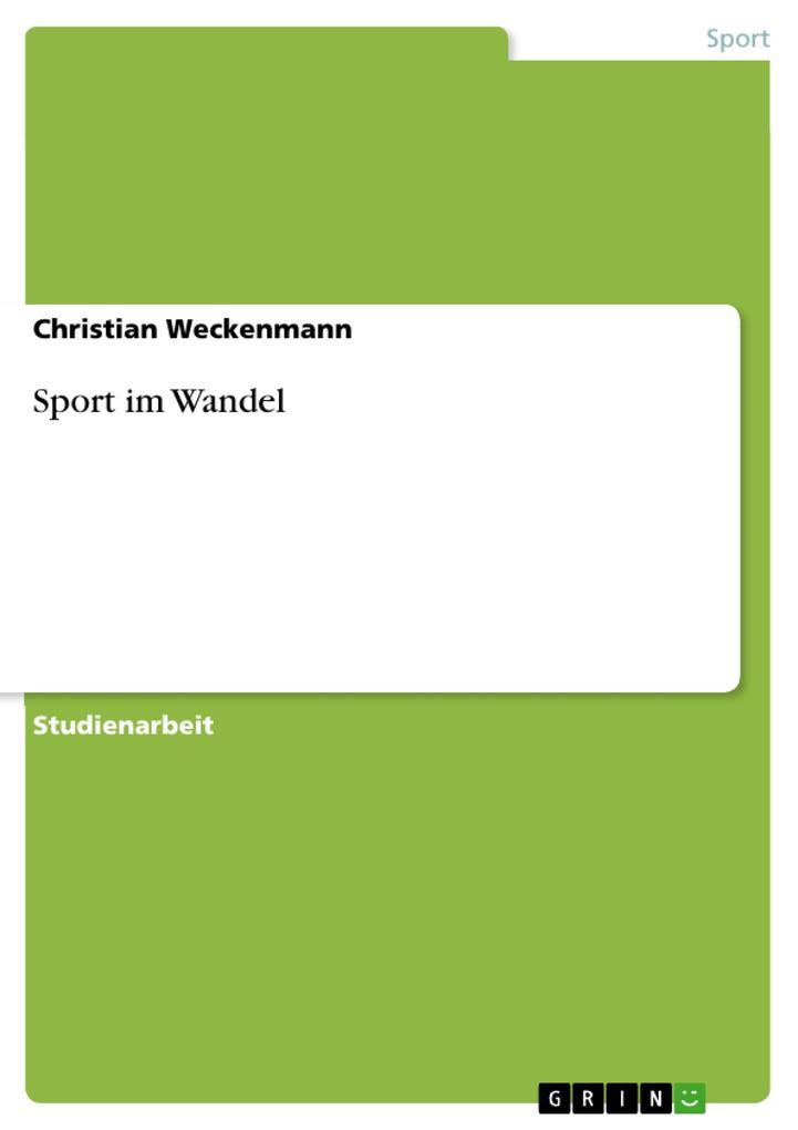 Sport im Wandel als eBook Download von Christia...