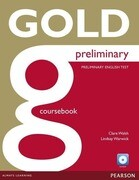 Gold Preliminary Coursebook z plyta CD-ROM