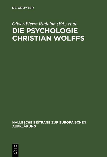 Die Psychologie Christian Wolffs als eBook Down...