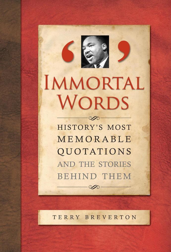Immortal Words als eBook Download von Terry Bre...