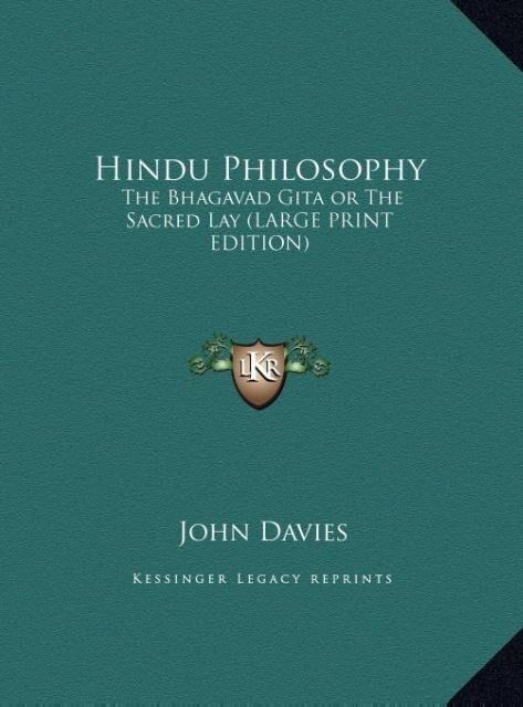 Hindu Philosophy als Buch von