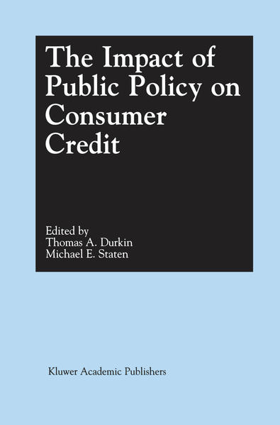 The Impact of Public Policy on Consumer Credit ...