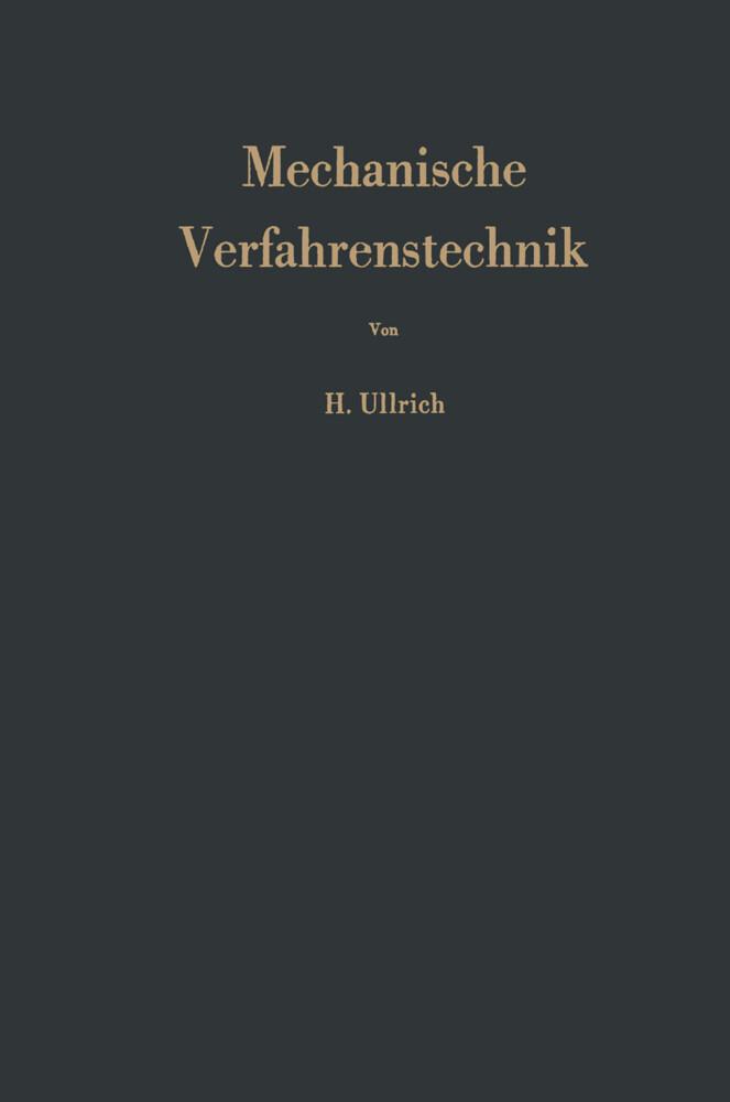 Mechanische Verfahrenstechnik als Buch von Hans...