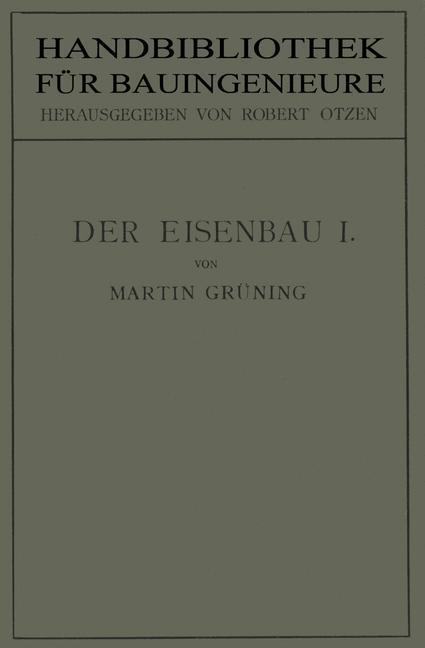 Der Eisenbau als Buch von Martin Grüning