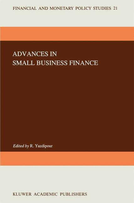 Advances in Small Business Finance als Buch von