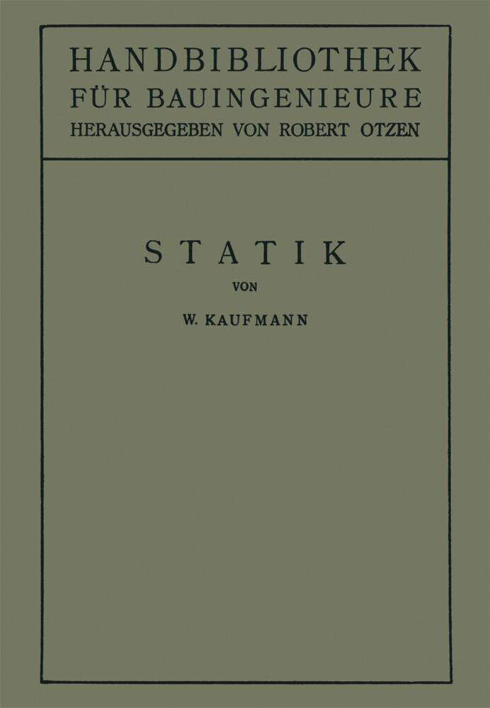 Statik als Buch von Walther Kaufmann