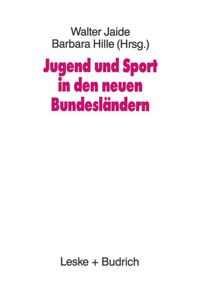 Jugend und Sport in den neuen Bundesländern als...