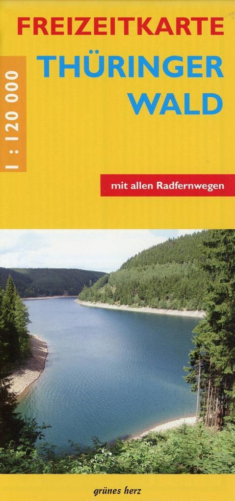 Freizeitkarte Thüringer Wald als Buch von