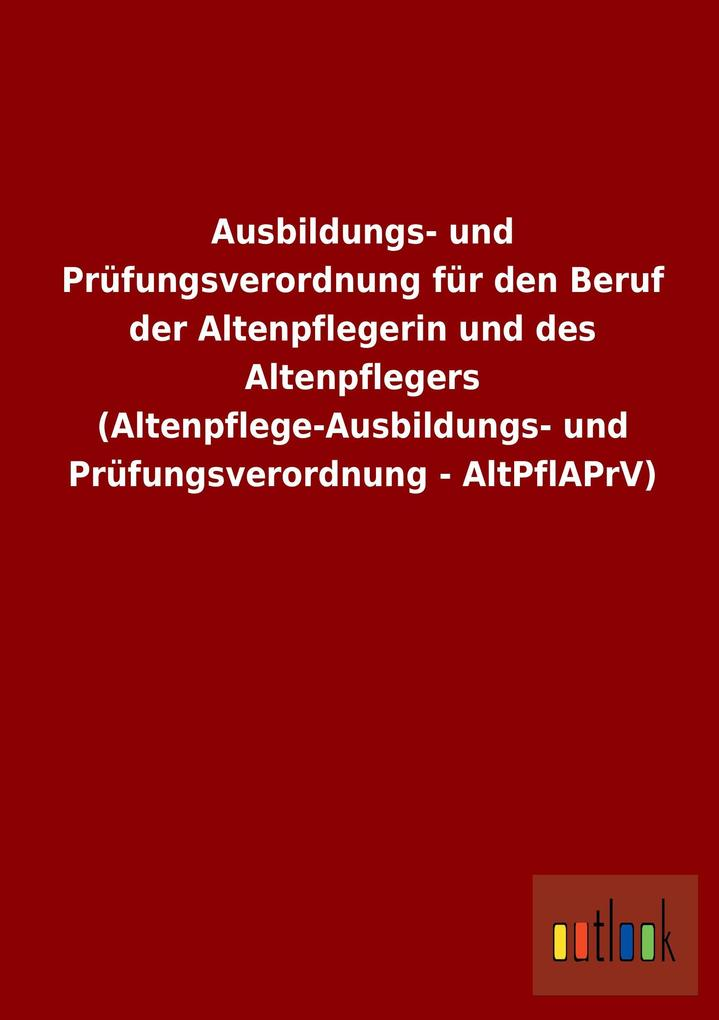 Ausbildungs- und Prüfungsverordnung für den Ber...
